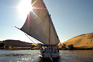 Dhow sailing on Lake Nasser, Egypt