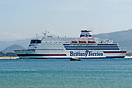 Brittany Ferries ship Val de Loire off the coast of Santander, Spain