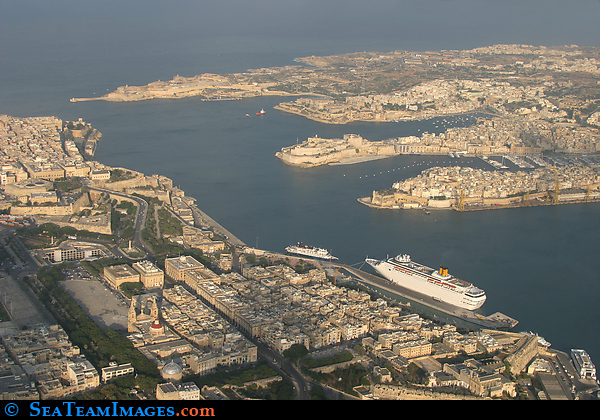 Aerial View of Valetta Harbour