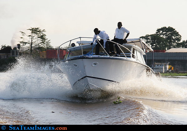 Motor Yacht on the Congo River