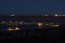 A night view of the Wahweap Marina at Lake Powell. The lights in the b...