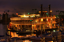 This reproduction paddle steamer, the Bahia Belle, offers scenic eveni...