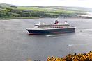 Cunard's mighty 'Queen Mary 2' leaves the Cromarty Firth, passing the ...