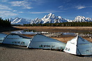 After a hot Summer, the water level of Jackson Lake drops dramatically...