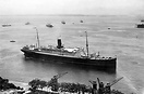 The Cunard White Star ship 'Carinthia'. She was sunk by a torpedo in 1...