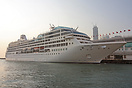 Pacific Princess berthed in Victoria Harbour