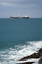 The bulk carrier 'Clipper Mermaid' off the Santander coast.