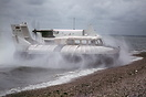 An SR.N5 hovercraft operating as a company demonstrator for the Britis...