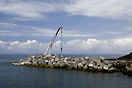 Construction of a breakwater at Puerto de Vega