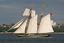 A replica Baltimore Clipper, this vessel serves as a goodwill ambassad...