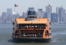 Staten Island Ferry, Andrew J Barberi, approaching the dock in St Geor...
