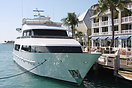 The the Heesen Yachts 'Morgan Star' moored at Key West