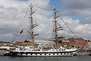 The Stavros S Niarchos docked at Liverpool during the Tall Ships Races...