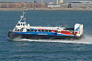 Hovertravel's high speed Southsea-Ryde service pictured at speed, outb...