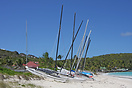 Hobie Cat on a Saint Barthelemy beach, French West Indies