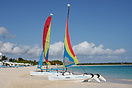 Hobie Cats on a  beach in Anguilla