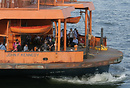 Staten Island Ferry, John F Kennedy, preparing to leave Whitehall Term...