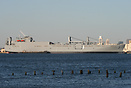 USNS Watson, just out of about a month in Dry Dock and apparently fuel...
