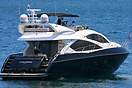 The Sunseeker motor yacht 'Pantera' in Sydney harbour