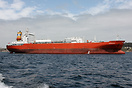 The LPG tanker 'Australgas' anchored off the coast of Quintero, Chile
