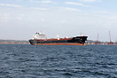 The tanker Punta Angamos acnchored off Quintero, Chile