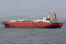 The LPG tanker 'Australgas' anchored off Quintero, Chile