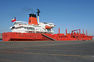 The chemical tanker 'Bow Condor' berthed in San Antonio, Chile