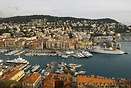 A view of Nice harbour from the Citadel
