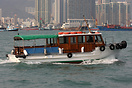 The water taxi 'Kong Kee' in Hong Kong harbour