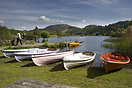 A beautiful Lake District summer scene with the very popular rowing bo...