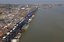 The Port of Felixstowe UK from the air