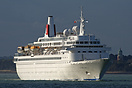 Boudicca outbound from Southampton on her first 2009 cruise from the p...