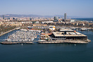 Overview of Port Vell and the moorings of the Barcelona Royal Yacht Cl...