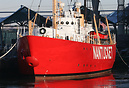 Preserved Lightship Nantucket, WLV-612, seen here in Battery Park City...