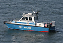 NYPD patrol boat 35, '23 Heroes', seen here in the Verrazano-Narrows, ...