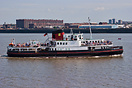 The Mersey Ferries' Royal Daffodil, crossing the River Mersey on one o...