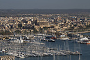 An overview of the harbour of Palma, Majorca from Bellver Castle