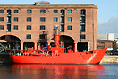 The lightship 'The Planet' preserved in Liverpool's Albert Docks