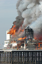 The fire which broke out on Weston-Super-Mare's Grand Pier on the morn...