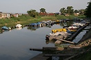 Boats moored in Kinshasa Yacht Club on the Congo River