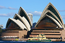 The Sydney Ferries vessel 'Sirius' passing in front of the Sydney Oper...
