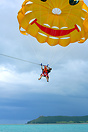 Parasailing is one of the many activities available to tourists on the...