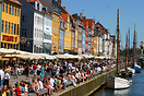 Boats moored in Nyhavn (New Harbour) - a popular tourist area of Copen...