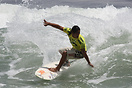 Guatemalan contestant competing in the 2009 ISA World Surfing Games he...