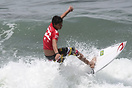 Miguel Pupo from Brazil competing in the 2009 ISA World Surfing Games ...