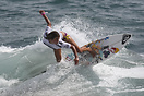 Sofia Mulanovich from Peru competing in the 2009 ISA World Surfing Gam...