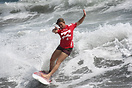 Laura Rishworth from New Zealand competing in the 2009 ISA World Surfi...