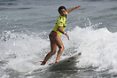 Alessa Quizon from Hawaii competing in the 2009 ISA World Surfing Game...