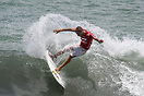 Pascal Luciani from Tahiti competing in the 2009 ISA World Surfing Gam...