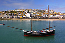 The Dolly Pentreath at rest in St.Ives Harbour.  She was built in 1993...